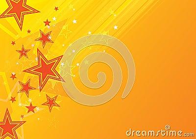 Orange star background
