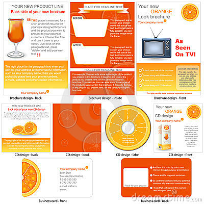 Orange stationary