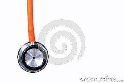 Orange stethoscope Stock Photo