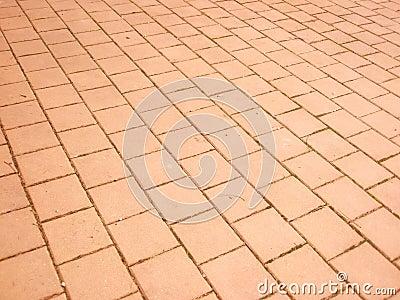 Orange stone pavement