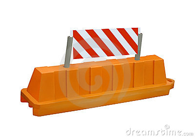 Orange stop security road barrier sign, nobody,