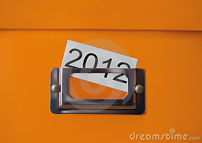 Orange storage box