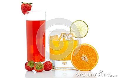 Orange and strawberry juice