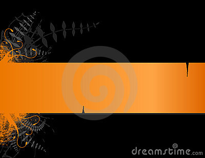 Orange stripe with place for text.