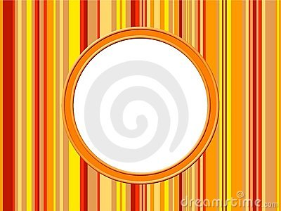Orange Stripes Border