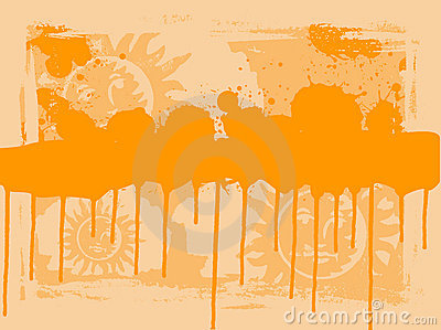 Orange Sun Drips