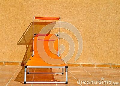 Orange Sun Lounger