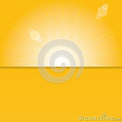 Orange sunburst summer.