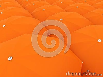 Orange sunshade massive background