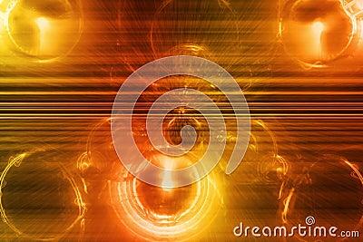 Orange Supernova Abstract Background Wallpaper