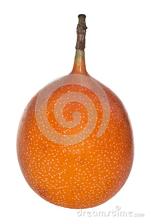 Orange sweet granadilla isolated on white