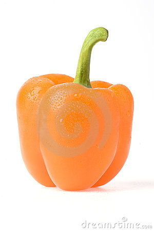 Orange sweet pepper.
