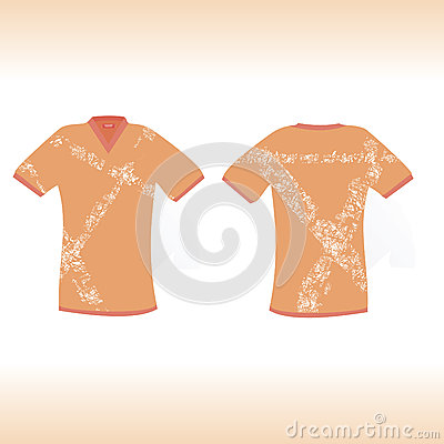 Orange t-shirt with original scratch design