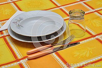 Orange table set