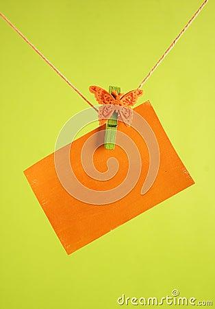 Orange tag