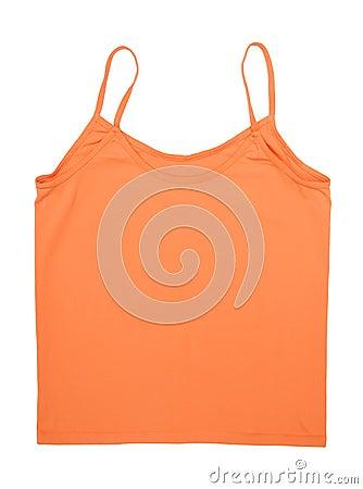 A orange tank top