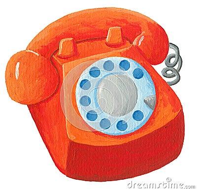 Orange telephone from 70s