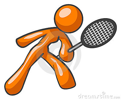 Orange tennis player