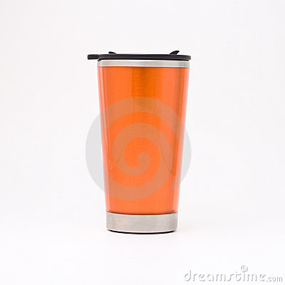 Free Orange Thermal Mug Royalty Free Stock Images - 4585879