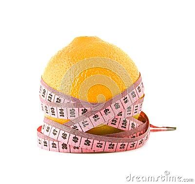 Orange is tied around by a centimetre
