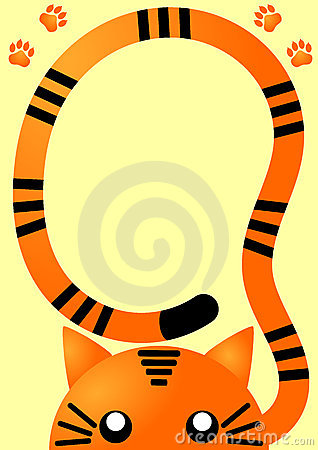 Orange Tiger Invitation Card