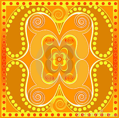 Orange tile design