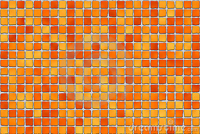 Orange tiles - mosaic