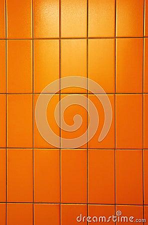 Orange tiles wall