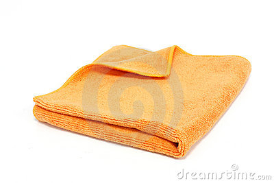 Orange towel isolated