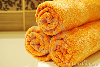 Orange Towels