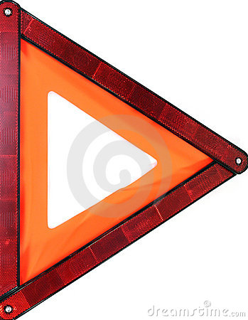 Orange triangle warning sign