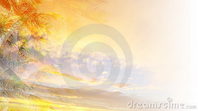Orange tropical background