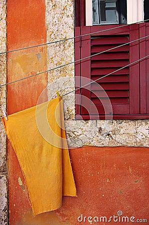 Orange Tuch