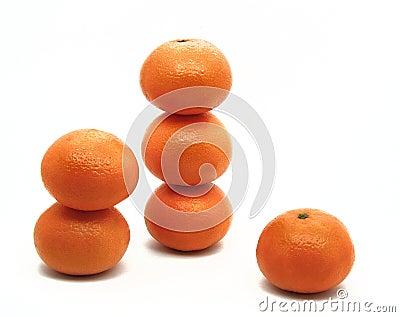Orange turrets
