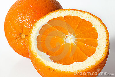 Orange und Orangensaft