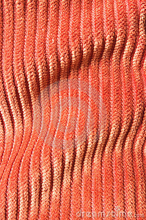 Orange undulating corduroy texture