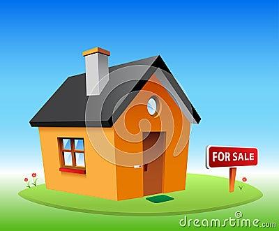 Orange vector house