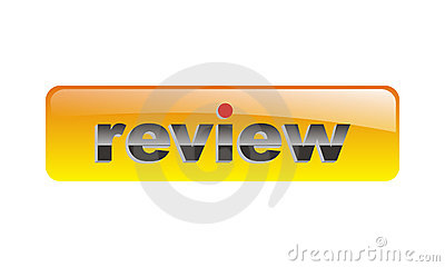 Orange vector review button