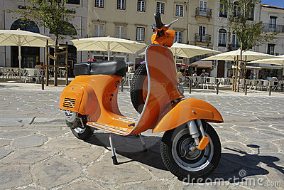 Orange Vespa