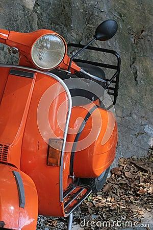 Free Orange Vespa Stock Images - 3508214