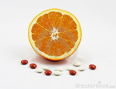 Orange With Vitamins And Minerals