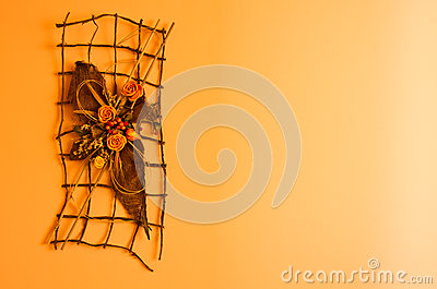 Orange wall decoration