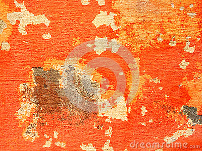 Orange Wall With Peeling Paint Stock Photo Image 45170816