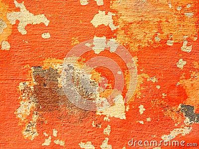 Orange Wall With Peeling Paint Stock Photo Image 45170816