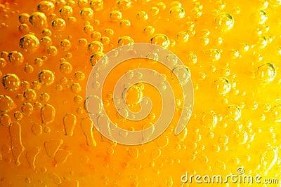 Orange water bubbles