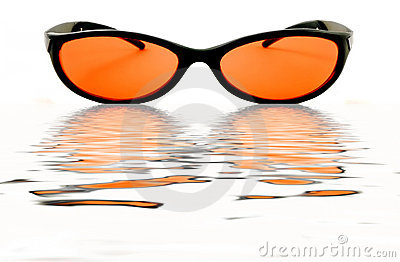 Orange Water Glasses