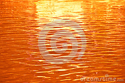 Orange water ripple.