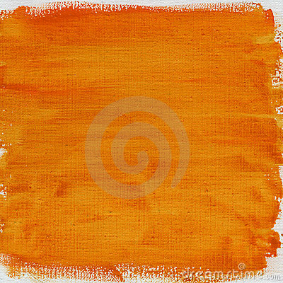 Orange watercolor abstract with canvas texture