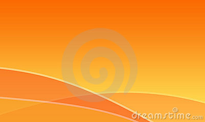 Orange waves abstract background