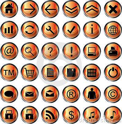 Orange web icons